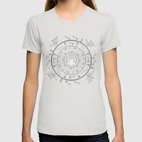 Journey Mandala Womens Fitted Tee Silver SMALL