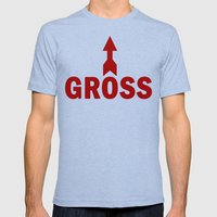 Gross Mens Fitted Tee Tri-Blue SMALL