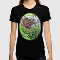 Autumn Brights Womens Fitted Tee Black SMALL