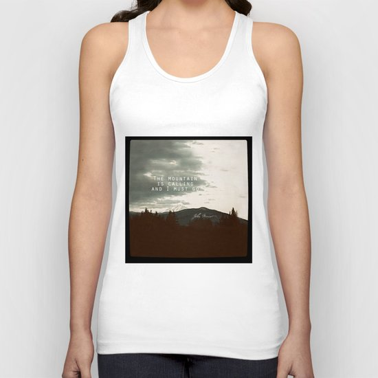 The Mountain is Calling Unisex Tank Top