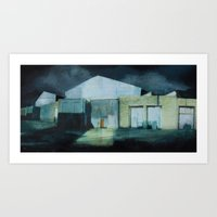 Beyond the Tracks Art Print