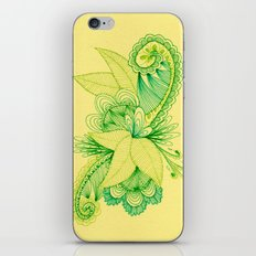 Green Arabesque iPhone & iPod Skin