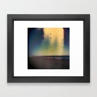 2D Beach Framed Art Print