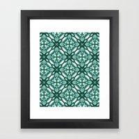 Watercolor Green Tile 3 Framed Art Print