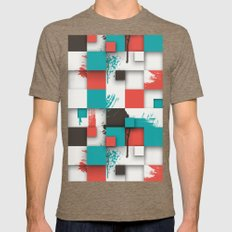 Paint Splat Mens Fitted Tee Tri-Coffee SMALL