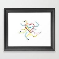 Home Where The Heart Is Framed Art Print
