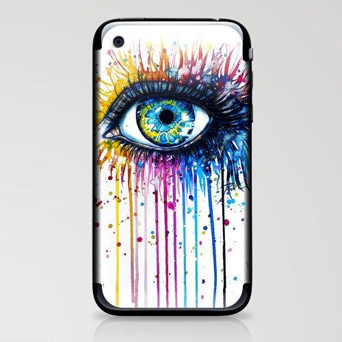 """Rainbow Eye"" iPhone & iPod Skin"