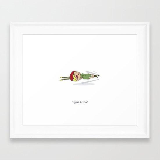 Spiral Arrow Framed Art Print