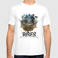 you're COLOR rises Mens Fitted Tee White SMALL