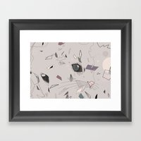 Serious Cat Framed Art Print