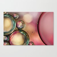 Bubble Abstract With Pin… Canvas Print
