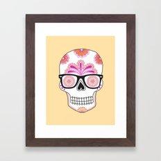 sugar skull #bonethug Framed Art Print