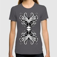 Octopus Mirrored Womens Fitted Tee Asphalt SMALL