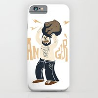 iPhone & iPod Case featuring Anger (white hot version) by David Finley