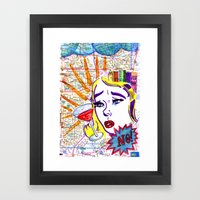 Just say no! Framed Art Print