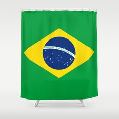 Brazilian National flag Authentic version (color & scale) Shower Curtain