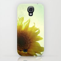 Galaxy S4 Cases featuring Sunflower by Cassia Beck