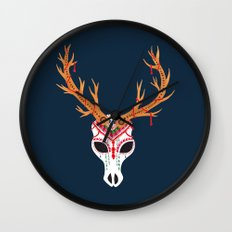 The Deer Head Skull   Wall Clock