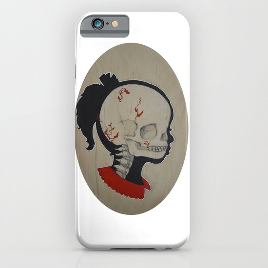 Girl Next Door = Silhouette and Anatomy Love Painting iPhone & iPod Case