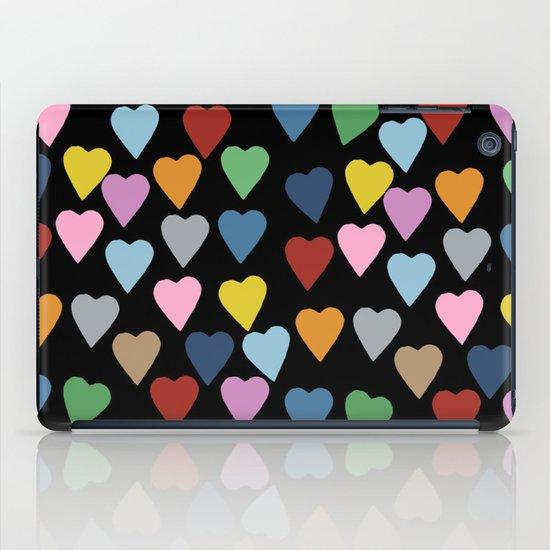Hearts #3 Black iPad Case