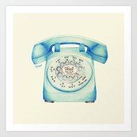 Rotary Telephone - Ballp… Art Print