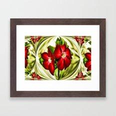 Exotic Flower Unrap Framed Art Print