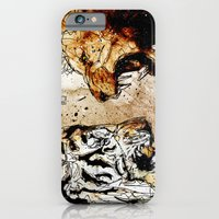 iPhone & iPod Case featuring Lion vs Tiger by Ed Pires