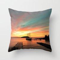 Autumn Sunrise Bar Harbo… Throw Pillow