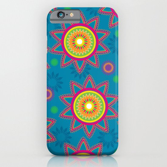 Moroccan Flower Blue iPhone & iPod Case