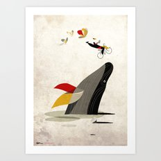 For a breath, the butterflies Art Print