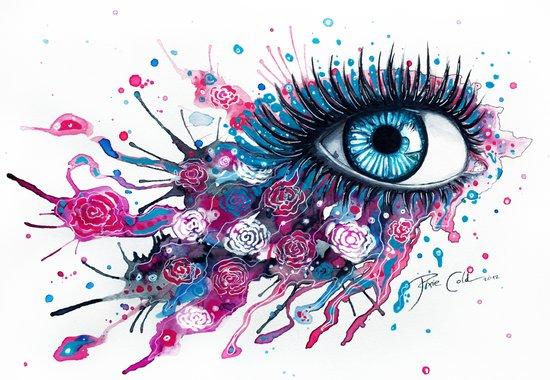 """Midnight Rose"" Art Print"