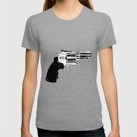 Gun #27 Womens Fitted Tee Tri-Grey SMALL