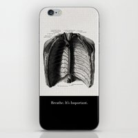 Breathe. A PSA For Stres… iPhone & iPod Skin