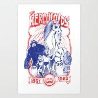 the herculoids Art Print