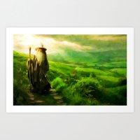 Gandalf's Return - Painting Style Art Print