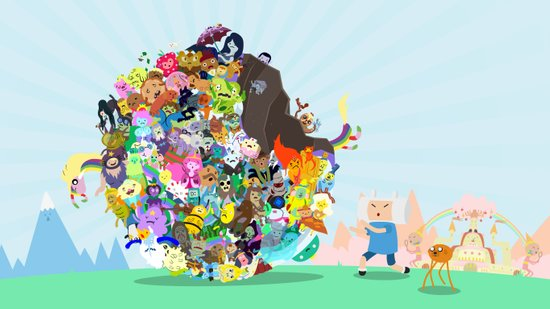Adventure Time - Land of Ooo Katamari Art Print