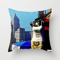 Strip District Model Throw Pillow