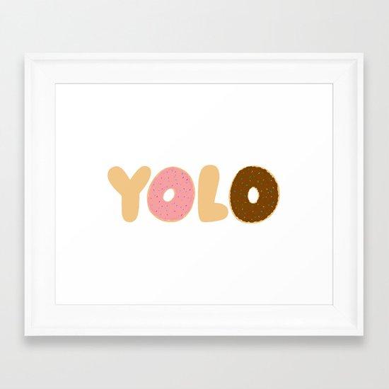 YOLO Donuts Framed Art Print