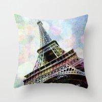 Paris 2 Throw Pillow