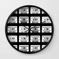 Black and White Tapes Wall Clock