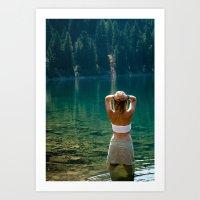 Le Lady Lake Art Print