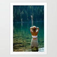 Le Lady Lake Art Print