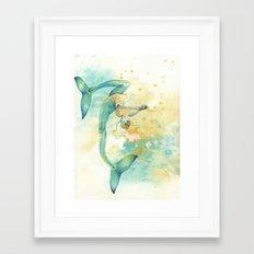 Two-tailed Mermaid Framed Art Print