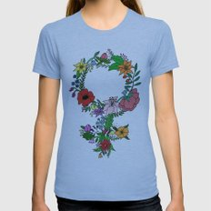 Feminist flower in color Womens Fitted Tee Athletic Blue SMALL