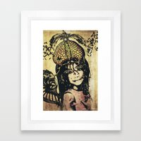 butterly girl Framed Art Print