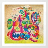 Le Dejeuner Sur L'herbe … Art Print