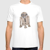 R2D2 Mens Fitted Tee White SMALL