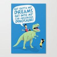 my car-nivorous dinosaur Canvas Print