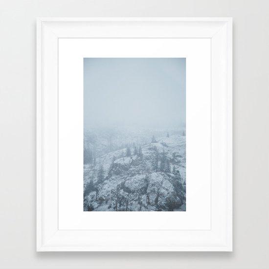 Rose Valley Lake III Framed Art Print