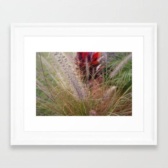 Fuzzy Stem Framed Art Print